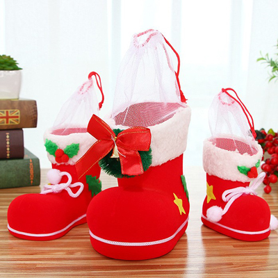 Hot Style Christmas Creative Candy Flocking Boots China