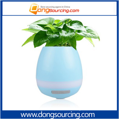 Hot Selling Touch Play Piano Plastic Smart LED Music Flower Pot With Speaker