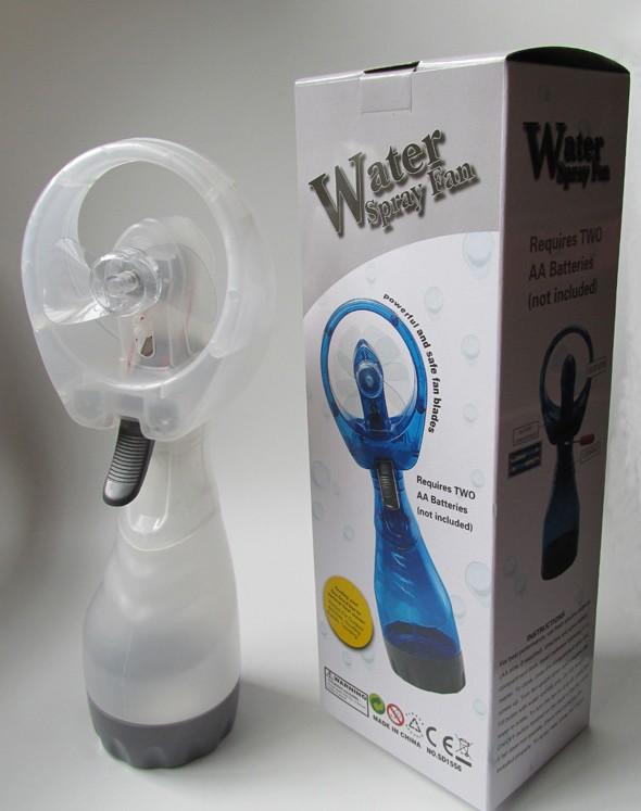 Packaging of spray water fan