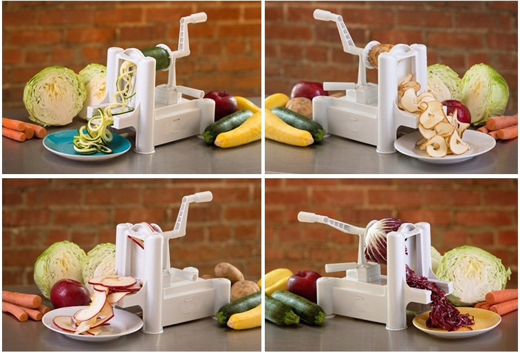 Multifunction vegetable fruit spiral slicer vegetable spiralizer