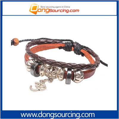 Alloy Small Leather Snake Grain Woven Bracelet Jewelry