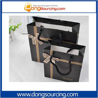 2017 New Custom Paper Gift Shopping Bag With Rope