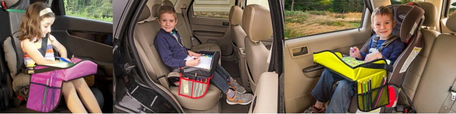 Easy Baby Kids Travel Tray for Car Seat Soft Travel Trays for Kids in Car