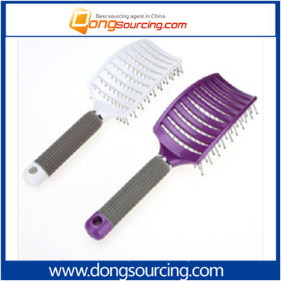 Hair Tools Massage Rubber Handle Big Curvature Comb